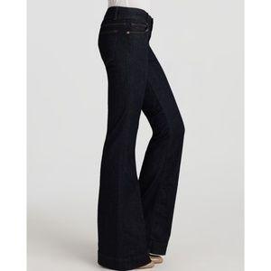 J BRAND 722 Love Story Flared Jeans Dark Blue Wash